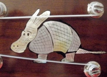 Armadillo Inlay in Headstock of Armadillo 'Ukulele