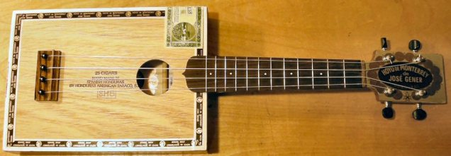 First cigar box 'ukulele