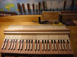 Keyboard sharps completed, lines scored