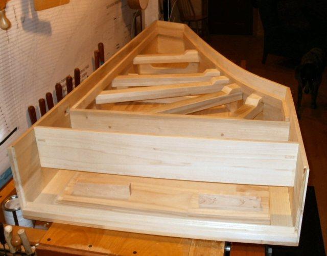 Harpsichord - Upper Braces Installed