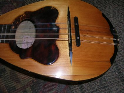 Neapolitan Mandolin After Restoration, cracks and splits repaired