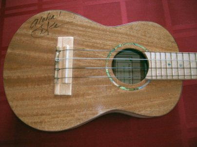 Mahogany Top Tenor 'uke signed by Jake