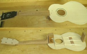 'Ukulele 5 Assembly in progress