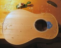 Scraping the bindings flush on 'ukulele #11
