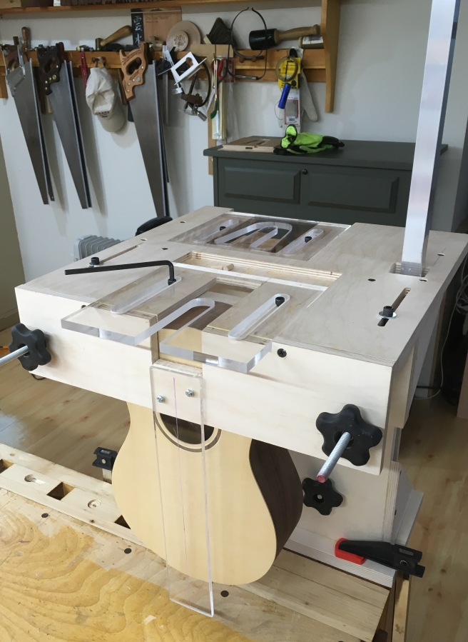 Completed jig with templates