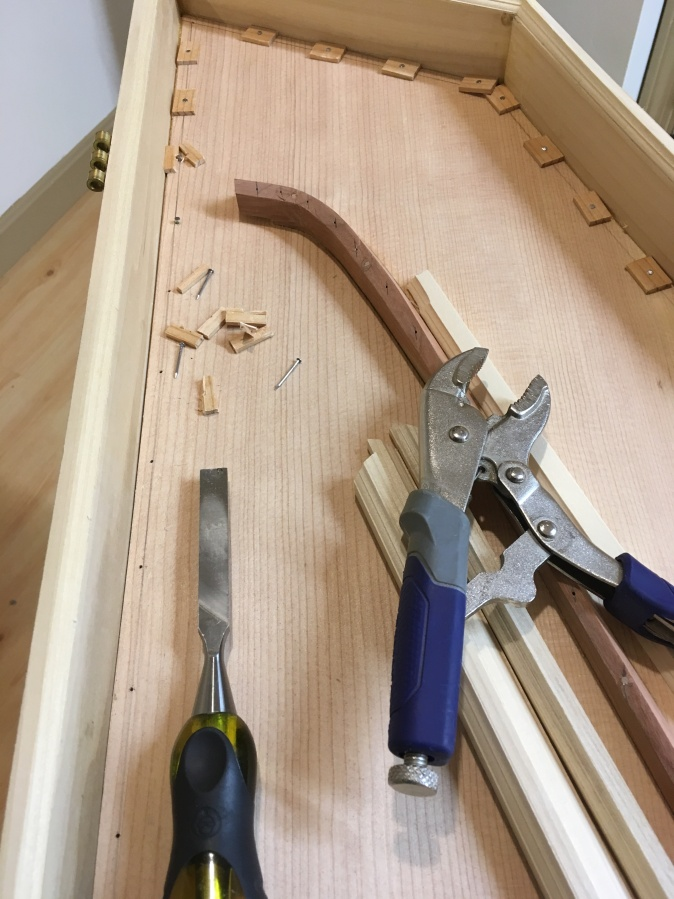 Removing Spruce Clamping Pads
